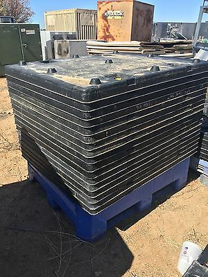 Used Uni-Pak UP404820SS001 Space Saver Top Plastic Pallet Lid 40x48