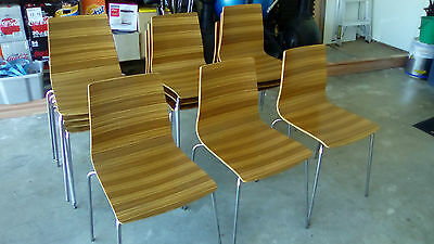 Zebrano Cafe Restaurant Chairs x 16