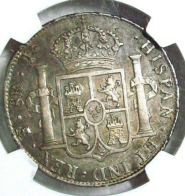 1825 Pts-J Bolivia Ferdinand Vii Silver 8 Reales Ngc Au-50 Very Rare L@@k