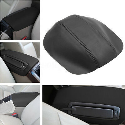 Black Leather Console Lid Armrest Rest Center Box Cover For Volvo S80 1999-2006