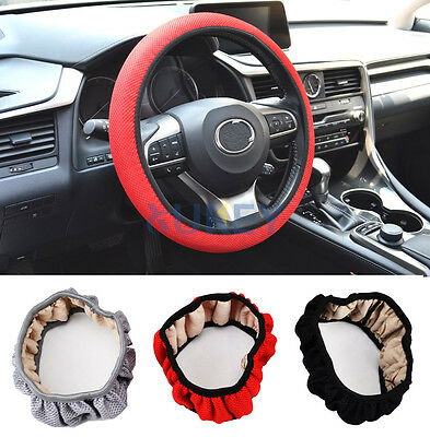 Summer Cool Elastic Car Auto Steering Wheel Cover Non Slip 38cm Hand Made