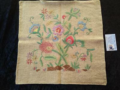 Jacobean 'Tree of Life' ~ Vintage Hand Embroidered Cushion Covers ~ 4 available
