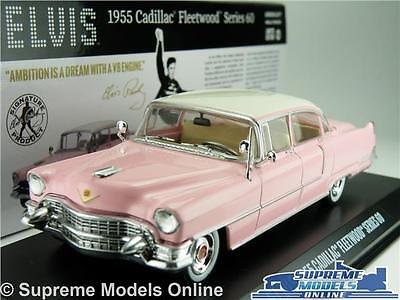 Elvis Cadillac Fleetwood Car Model 1:43 Size 1955 Greenlight 86491 Series 60 T3Z