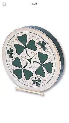 -SALE- FREE UK P+P-Performance Percussion SH1149 18 inch Shamrock Design Bodhran