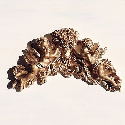 Shabby Chic Cupid French Furniture Moulding Furniture Applique Carving Onlay