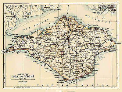Map of The Isle of Wight on A4 matt paper ( actual size approx.10 x 8 inches).
