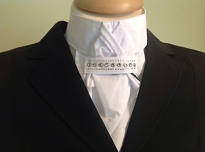 Pikeur pre tied stock White with Diamante