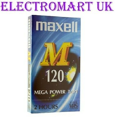 Maxell E120 Vhs Video Cassette Tape New And Sealed 120 Minute