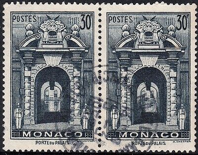 Monaco 1941 30c Blue Pair VFU