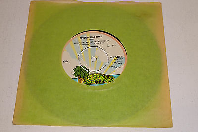 "ENO SEVEN DEADLY FINNS 1974 ISLAND 7"" UK ISSUE also Robert Fripp No Pussyfooting"