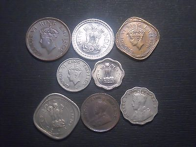 3352 - India - Eight Different Coins Dtd 1912 To 1973