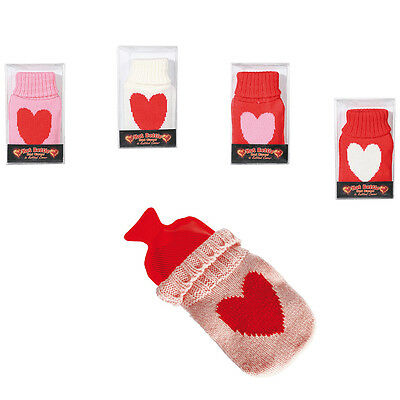 Hand warmer Pocket warmer Hot-water bottles with Knitted Coating in the heart