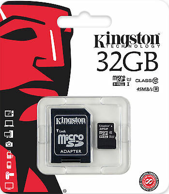 Kingston SDC10G2/32GB 32GB Micro SDHC Memory Card UHS Class 1/Class10 45MB/s NEW