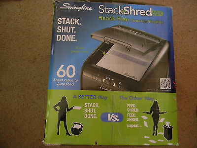 Swingline Stack-and-Shred 60X Hands Free Cross-Cut Auto-Feed Shredder