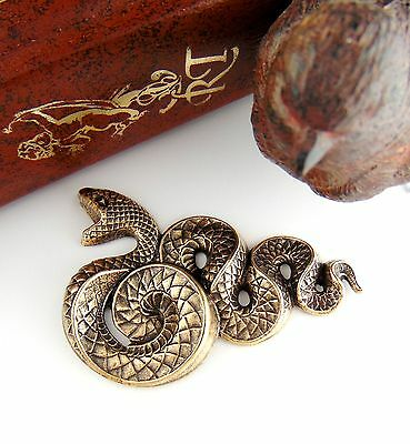 ANTIQUE BRASS Large Serpent SNAKE Stamping ~ Jewelry Ornament Finding  (C-503)