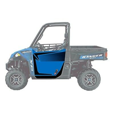 DragonFire ReadyForce Door Graphics Polaris Ranger XP 900 16-17 Velocity Blue