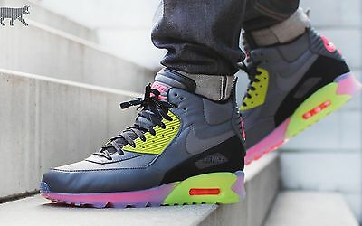 2fb345bd4e01 Nike Air Max 90 Sneakerboot Ice 984722 002 Drk Gry Grn Men s Athletic Shoes