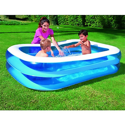 "Rectangular Paddling Pool 79""  Extra wide walls inflatable pool"