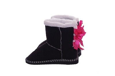 Girls Pink White Black Polka Dot Warm Winter Boots Trendy Cute 11 13 1 2 3 NEW
