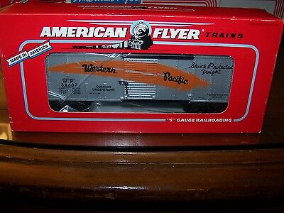 American Flyer S Scale #6-48498 Western Pacific Box Car in OB 1996 TTOS