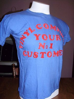 AMAZING VINTAGE 1970's VINYL COMPOUND RECORD STORE SHIRT #1 CUSTOMER record lps