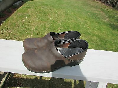 Dansko Professional  Clogs Shoes Women's Size 43 Brown Leather