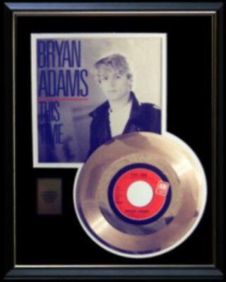 Bryan Adams This Time Gold Record Disc 45 Rpm  Rare!!
