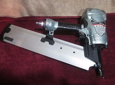 "Hitachi NR90AE  3 1/2"" 90mm Round Head Framing Air Strip Nailer NO RESERVE"
