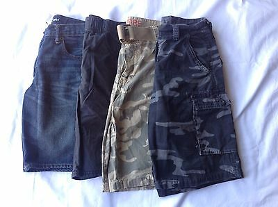 Boys Shorts Lot Assorted Camo Khaki Blue Jean Size 12 14 Gap Gymboree