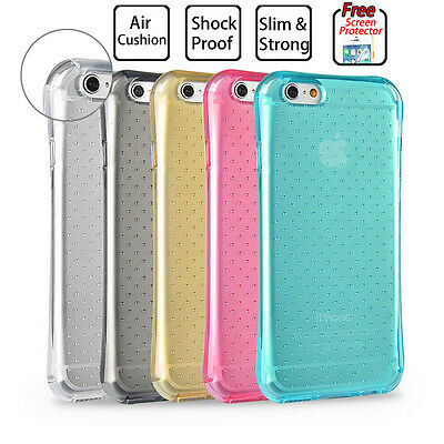 Shockproof Soft Gel Clear Case Cover for Apple iPhone 6S 7 / 7 Plus Shock Proof