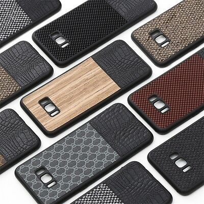 Luxury Ultra-thin Shockproof Leather TPU Back Case Cover For Samsung S8 Plus S8