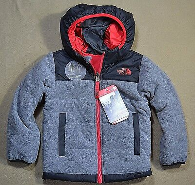 Nwt Boys Toddler The North Face Todd Reversible Full Zip Fleece Coat Sz 3T