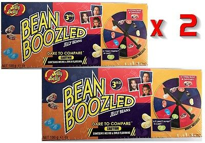 2 x Jelly Belly BEAN BOOZLED Jelly Beans 3rd Edition Spinner Game 100g Each