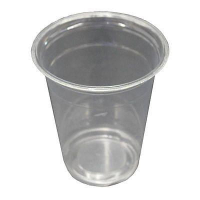 Clear 16oz Disposable Cup x 100 Cups 470ml Party Serveware Cold Chill Drinks