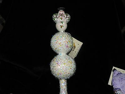 Patricia Breen Jeweled Holly Snow Angel Finial With Hallo