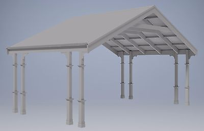 TRADITIONAL HERITAGE CARPORT / VERANDAH - V08 - Full Building Plans