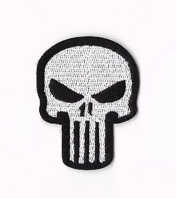 PUNISHER IRON ON / SEW ON PATCH Embroidered Badge Motif TV MARVEL COMIC PT169