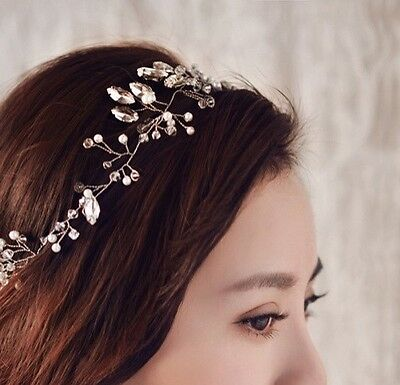 Bridal Crown Hair Accessory Racing Headband Vintage Crystal Wedding Spring 2017