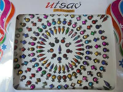 1 riesige Packung Bindis = ca. 75 St. Indien Bollywood Goa Hippie Psy India Art