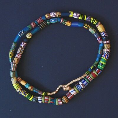 GHANA | Antique Venetian trade beads mixed strand 38 inches inches (1910)