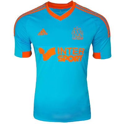 adidas Olympique Marseille 4th Herren Fussball Droit au But Trikot hellblau