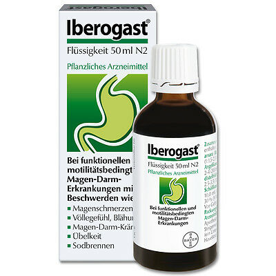 ORIGINAL IBEROGAST 50ml ! - STOMACH PAIN - HEARTBURN - BLOATING - CRAMPING - GAS