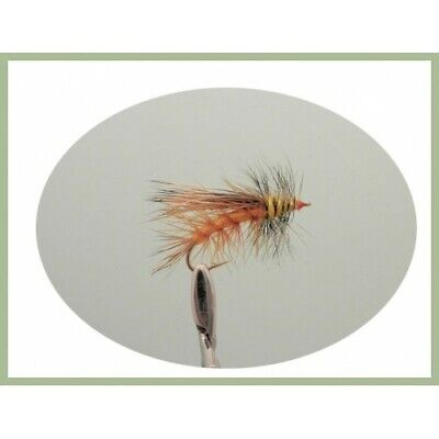 6 Simulator Fishing Flies for Trout or Grayling, Choice of sizes available