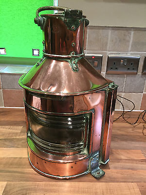 Vintage WW2 Copper & Brass Ships Navigation Light Nautical Maritime Marine Boat