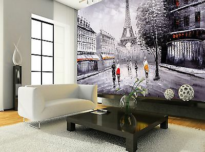Oil Painting - Paris  Wall Mural Photo Wallpaper GIANT WALL DECOR Paper Poster
