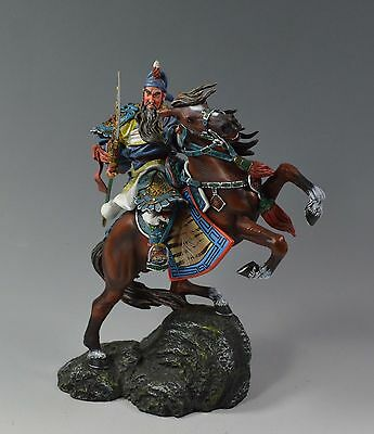 90mm handpainted and finished metal figure Ancient Chinese Worrior Guan Yu.