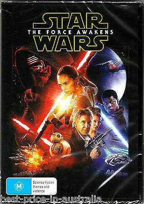 STAR WARS: Episode VII - The FORCE AWAKENS DVD BRAND NEW RELEASE R4