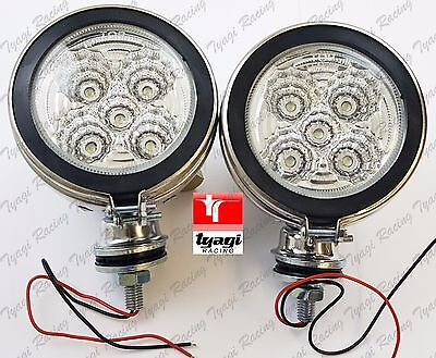 "Universal 4"" Motorcycle Motorbike LED Front Spot Light Headlight Head Lamp X 2"