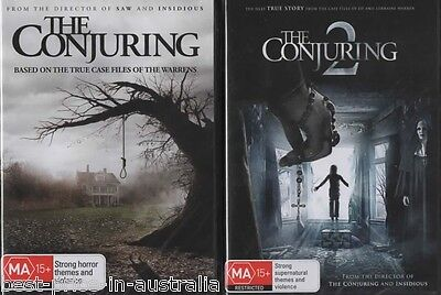The Conjuring 1+2 DVD 2-MOVIES TRUE STORY HORROR BRAND NEW R4