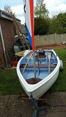 sailing tender dinghy rowing boat and trailer